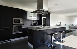 technologically modern kitchen