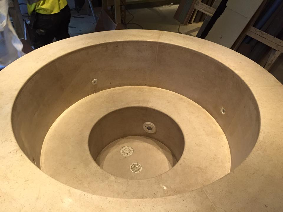 Bespoke stonemasonary plunge pool II