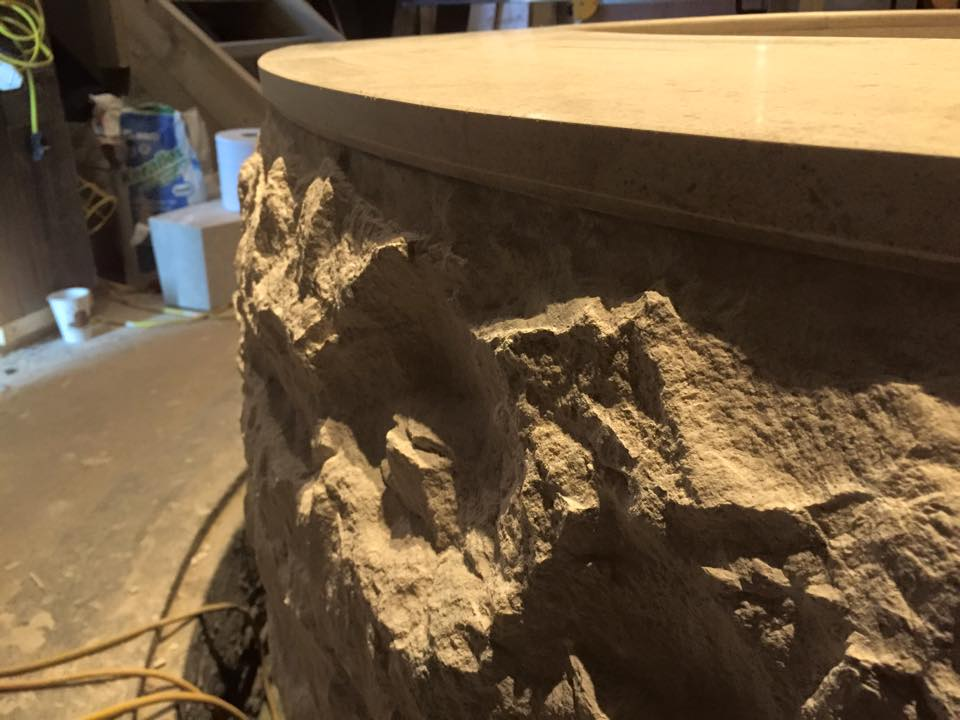 Bespoke stonemasonary plunge pool III