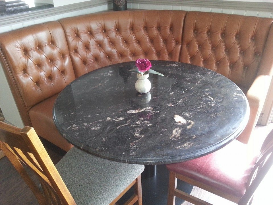 Black granite bespoke table for country pub