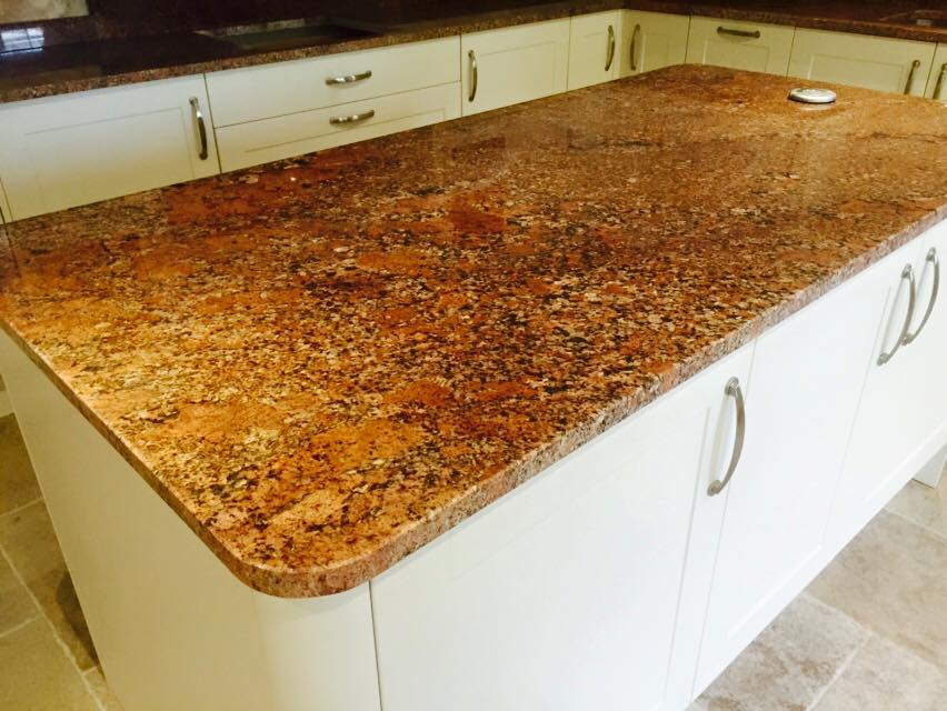 Bronze kitchen island