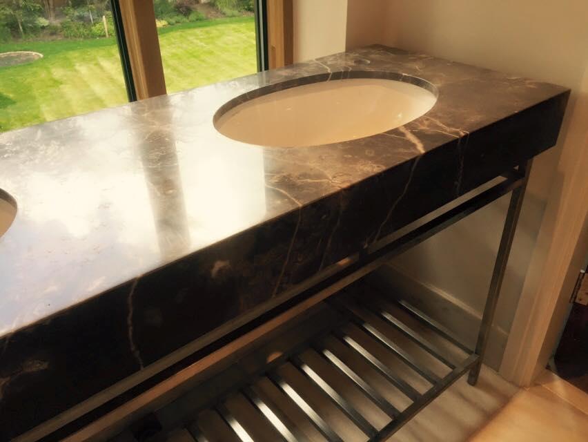 Granite vanity sink