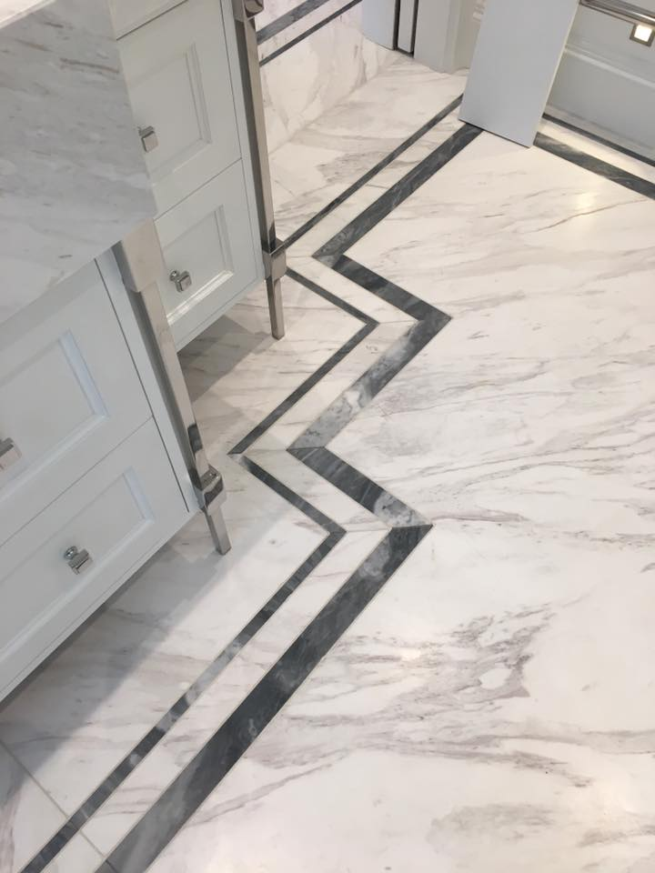 black and white floor unit granite