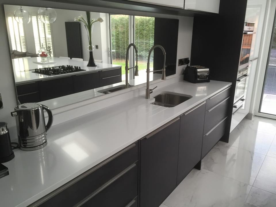 black and white modern kitchen two