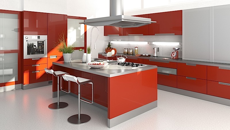 contrasting colours in the kitchen