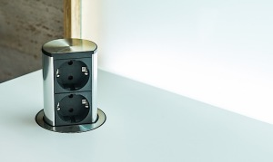 pop up plug socket granite worktop