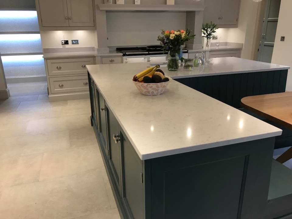 Silestone Lagoon worktop fitted recently in Macclesfield
