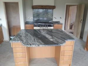 grey marble kitchen