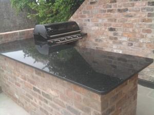 Black granite bbq top