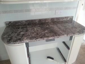 Kitchen unit marble