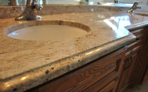 marble sink unit patterned