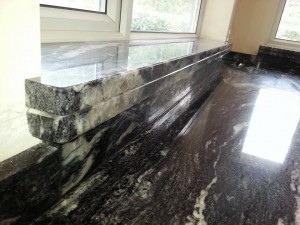 black and white patterned marble