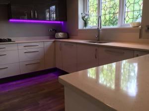 Kitchen with neon lights