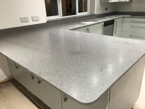 Platinum-chrome-suede-kitchen-countertop-in-Knutsford