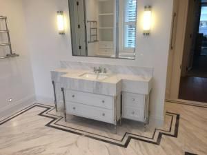 Marble sink unit