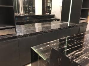 Black-and-white-galley-bar-kitchen