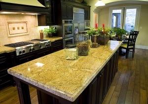 using granite to create a kitchen centrepiece