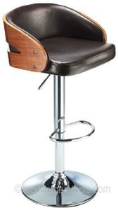Constantino savoy black and walnut bar stool