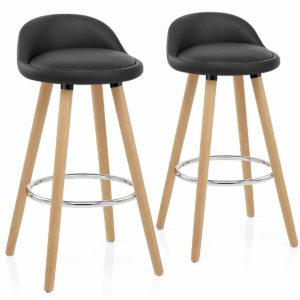 Life Carver faux leather bar stools