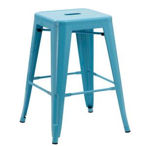 Duhome metal bar stool (blue)