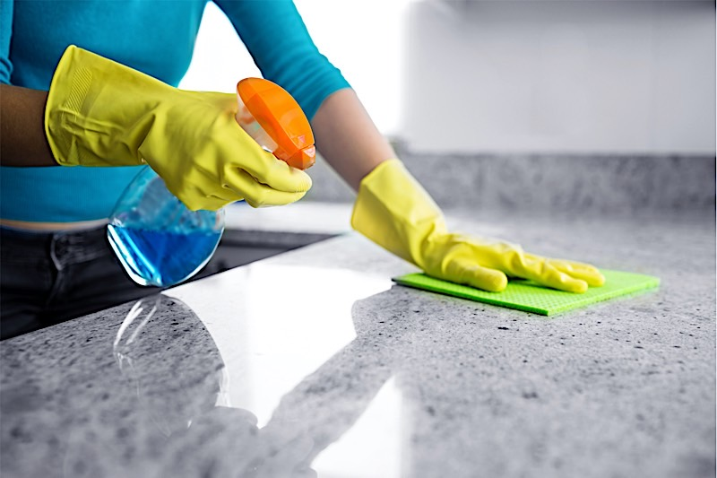 keep your kitchen worktops germ free