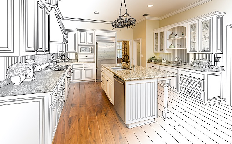 redesign your kitchen using the same layout